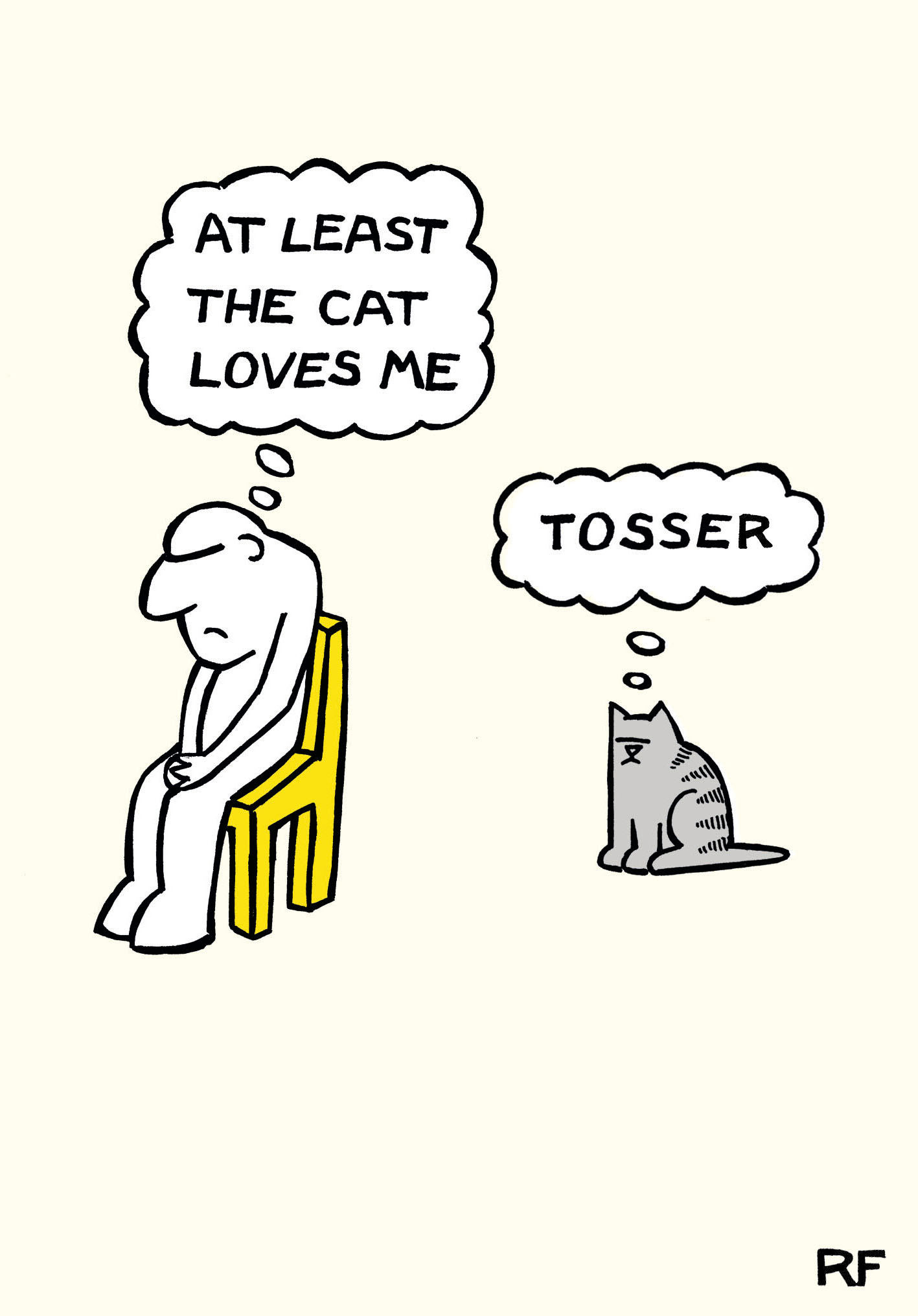 Tosser - Funny Greeting Card
