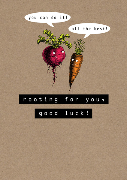 Rooting For You - Good Luck Card