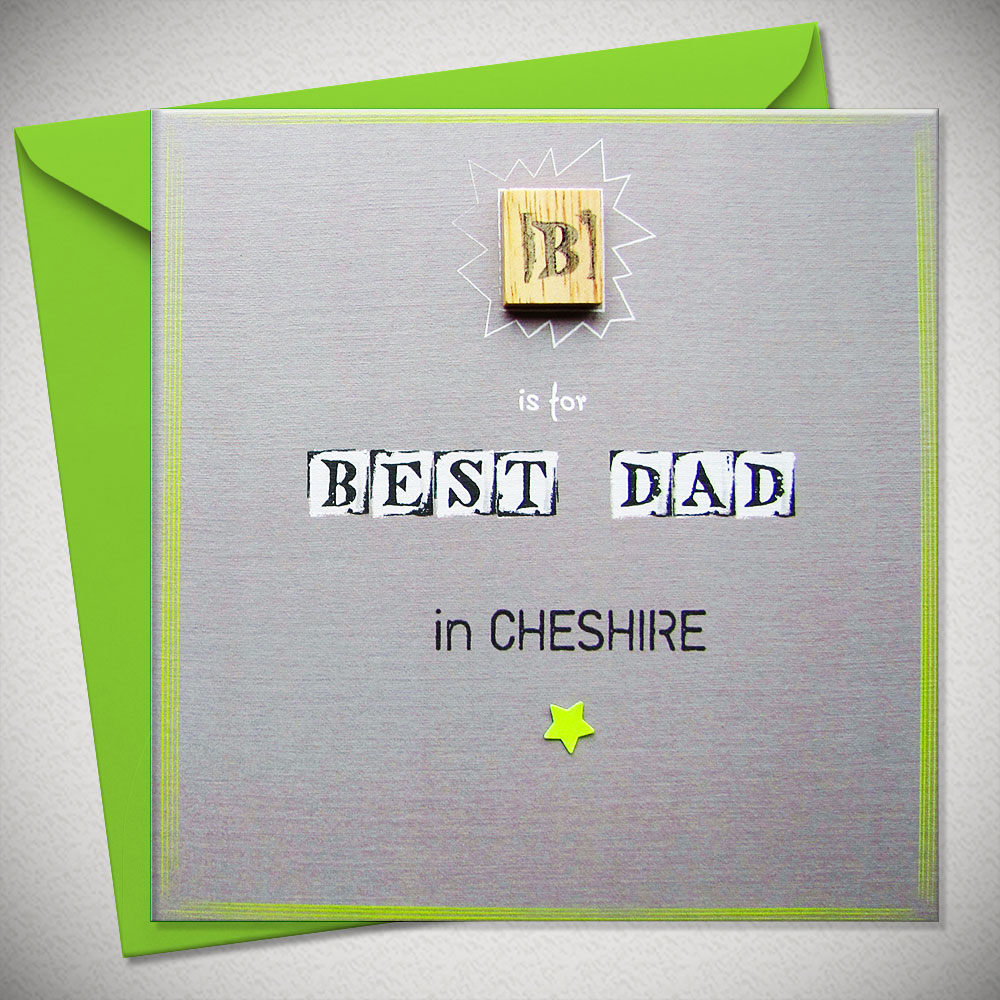 Best Dad In Brighton - Unique Fathers Day Card