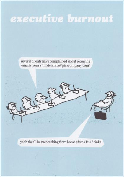 Executive Burnout - Modern Toss - Humorous greetings card
