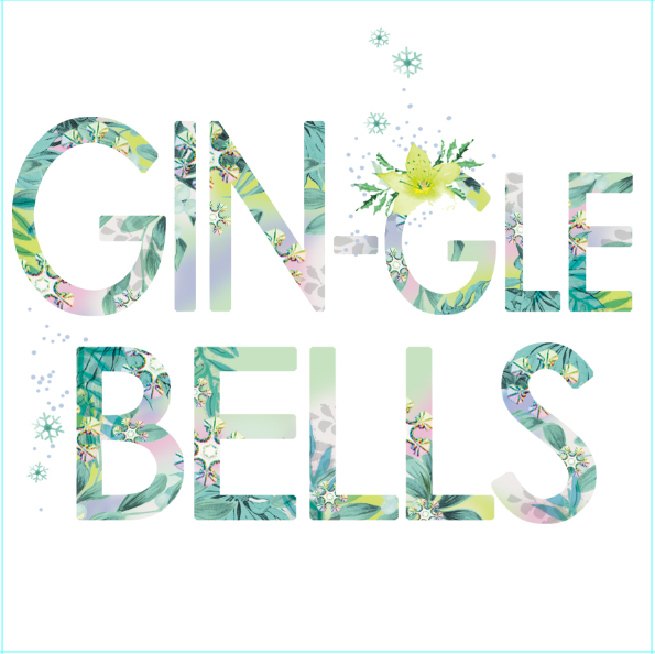 Gin-gle Bells - contemporary Christmas card from Lola Design