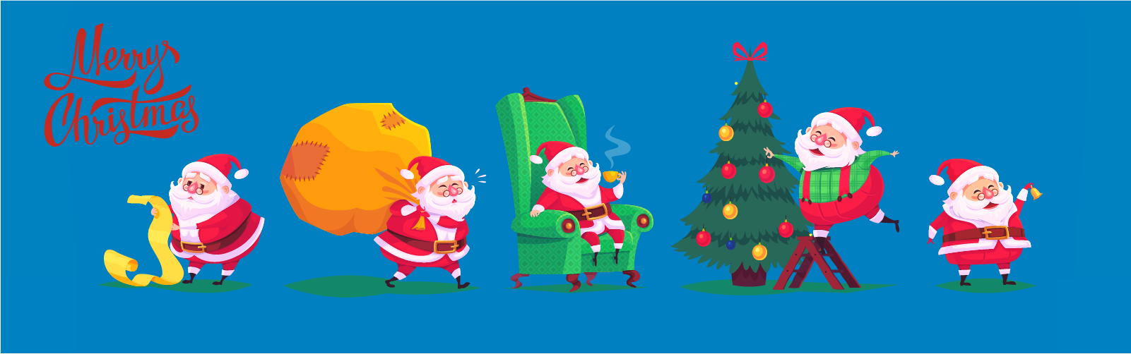 banner for Christmas messages