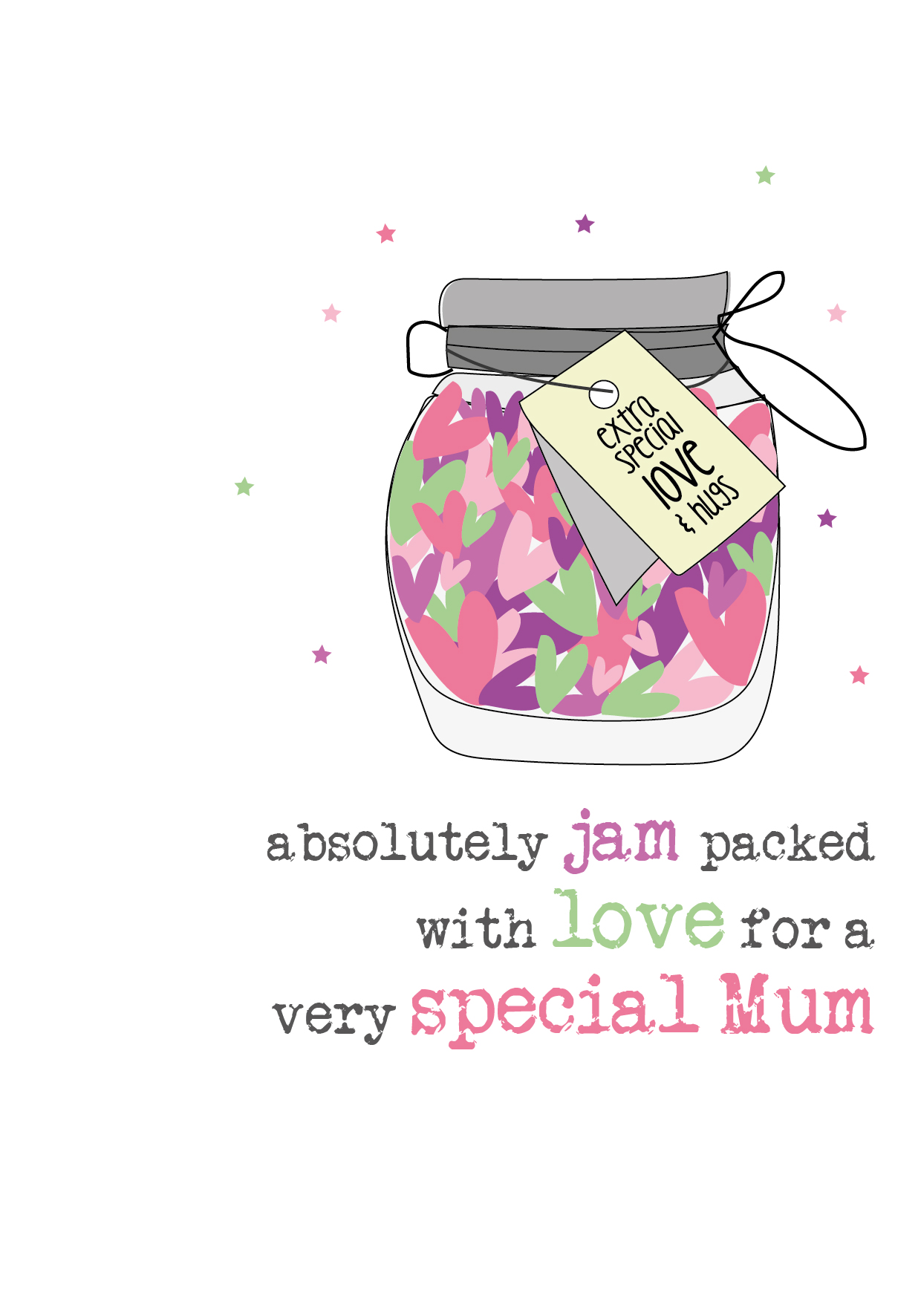 Jam Packed With Love On Mother's Day - Greeting Card