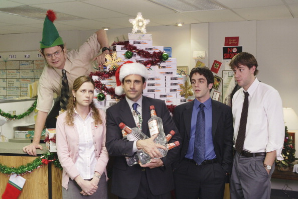 The office christmas for Creased Cards blog