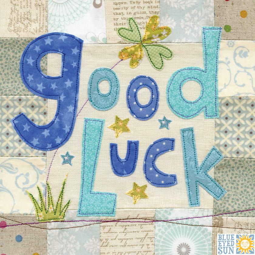 Good Luck (Allotment Range) - Large Hand Finished Good Luck Card