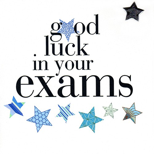 Good Luck In Your Exams - Contemporary Good Luck For Exams Card