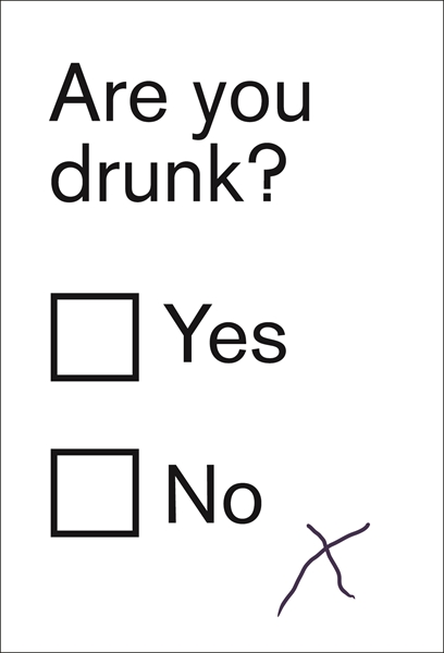 Are You Drunk? - Humorous Greetings Card