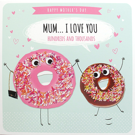 HUndreds and thousands - funny mothers day doughnut card