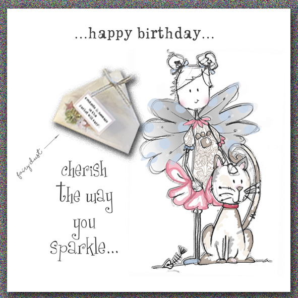 You sparkle - Unique Birthday card by Tracey Russell