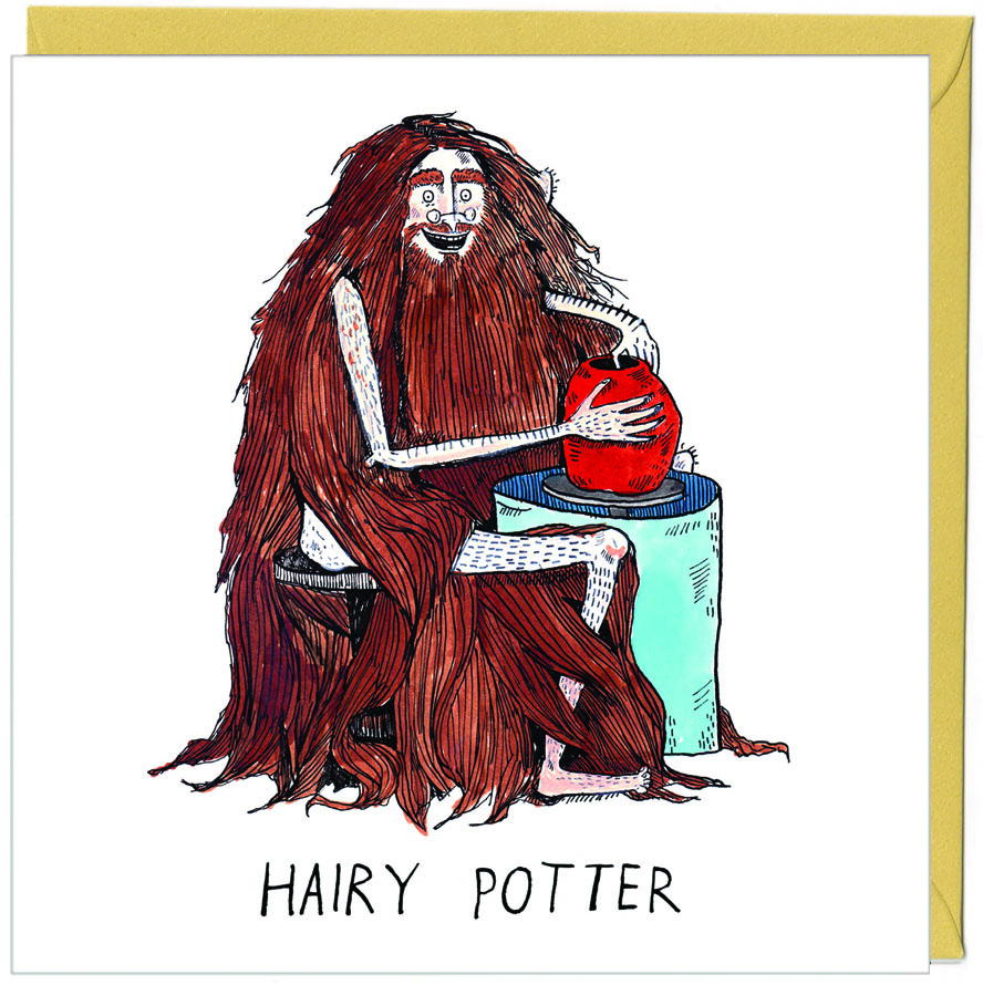 Hairy Potter - funny harry potter pun card