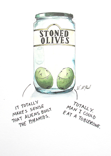 Stoned Olives - Funny weed pun