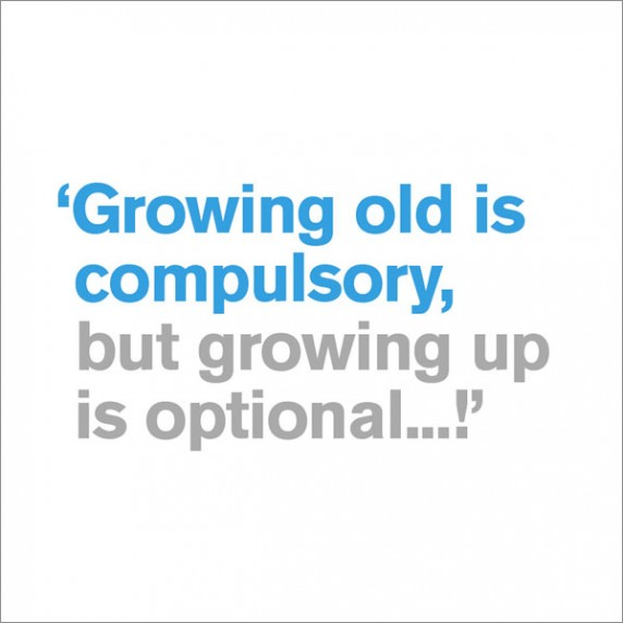 Growing old is compulsory - funny 30th birthday card