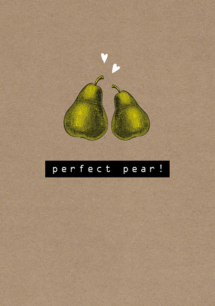 Perfect pear - two pears anniverary card