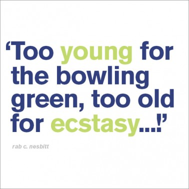 too old for ecstasy - funny 30th birthday card