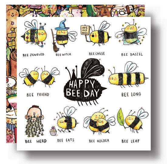 Happy Bee Day - Humorous Birthday Card