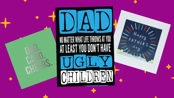 Creased Cards Fathers Day Cards