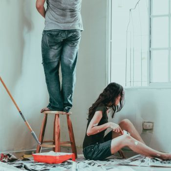 First time buyers decorating their house